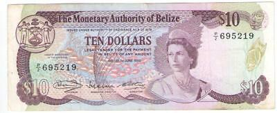 Belize 10 Dollars 1980 P-40