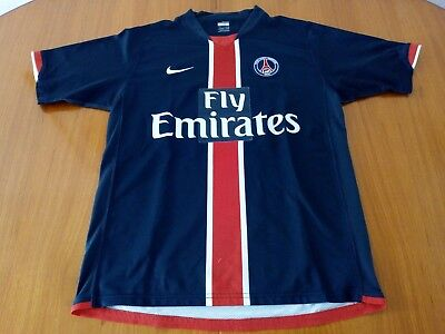 Psg Home Shirt 2006 2007 Adult Size Small Nike  Paris Saint Germain Football