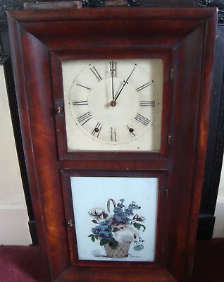 Two American 19thC wall clocks, Kent