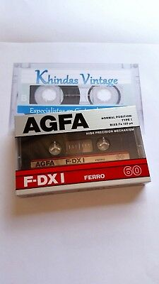CASSETTE TAPE BLANK SEALED  1x (one) AGFA F-DXI 60 ferro [1987] made in Germany