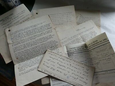 8 Documents - Research for GLEAVE Family - In Depth - Created c 1920s.