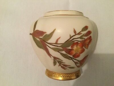 Royal Worcester Hand Painted Blush Pot Pourri Bowl c1891 Shape 1314