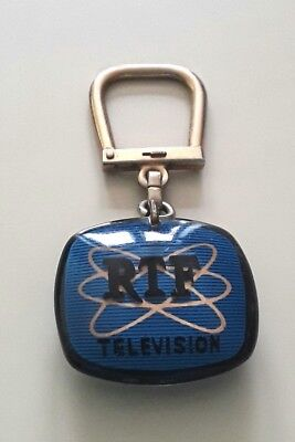 "Porte-Cle Bourbon "" Ortf "" Television / Keychain"