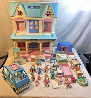 Fisher Price Dream Doll House With Accessories Jeep Figures