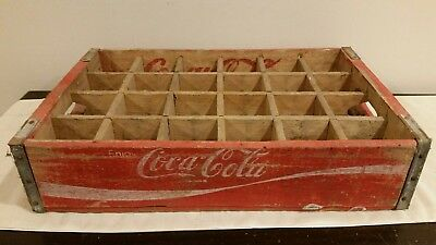 Vintage Coca Cola Wood Divided Crate Temple Chattanooga 1977