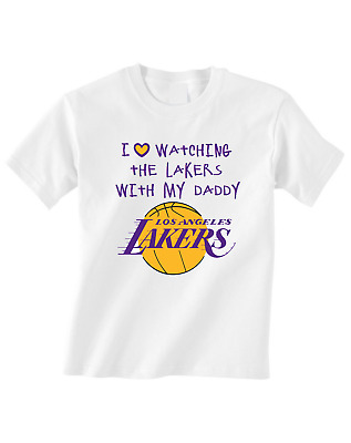 Los Angeles Lakers Tshirt Toddler T-Shirt love Watching With Daddy