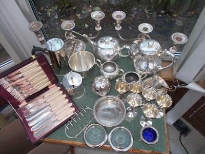 Job Lot Silver Plated Items All In The Pictures 6 Kg Walker & Hall Teaset