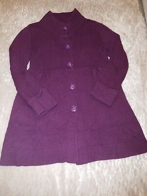 Old Navy Maternity Sweater Jacket Deep Purple Plum Pea Coat L Large