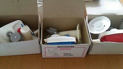 Knitting machine tools & accessories; wool winders, intarsia carriage....job lot