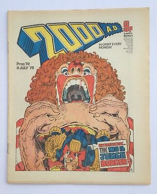 Rare Banned 2000ad Prog 72 - Excellent Condition