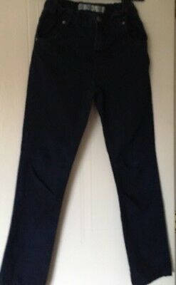 DENIM Co BOYS JEANS SIZE 12/13 Yrs  SLIM FIT DARK BLUE ELASTIC WAIST ADJUSTER.