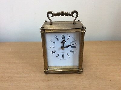 Vintage Smiths Brass Sectronic Carriage Clock Quartz Movement