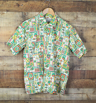 Vintage 60s Casual Bahamas Summer Shirt, Mens L, Short Sleeve, Button Front
