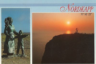 Picture Postcard Nordkapp North Cape Norway Children Of The Earth Memorial