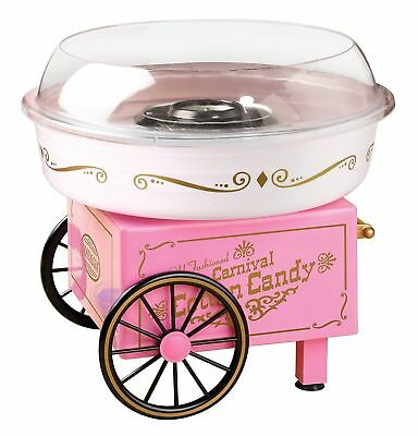 Cotton Candy Maker Machine Cart Vintage Sugar Free Electric Store Booth Pink New