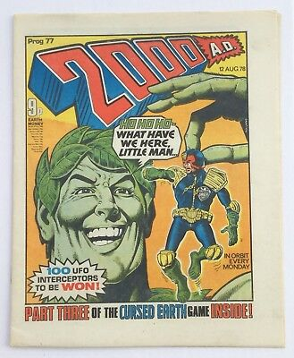 Rare Banned 2000AD Prog 77 - Excellent Condition