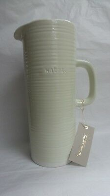 "Bloomingville Water Pitcher 11"" Stoneware Embossed Grey NIB"
