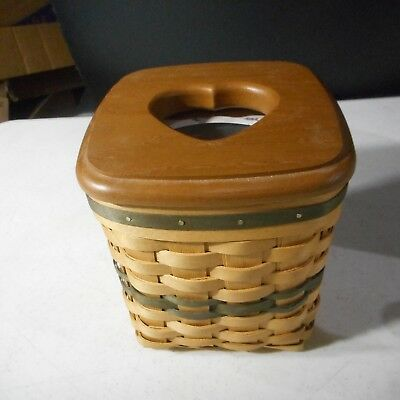 American Tradition Basket Green Weave Tissue Basket USA