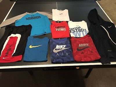 Boys Clothing Lot, youth XL, Nike and Under Armour (9 Total Items)