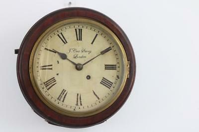 "RARE GEORGIAN 8"" SMALL FUSEE DIAL CLOCK by COX, SAVOY, LONDON some restore"