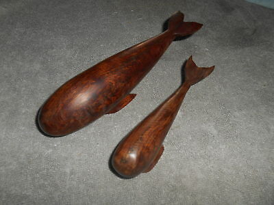 Wooden - Mother And Baby Whale - 8'' & 6''