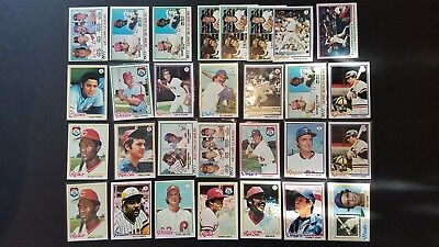 1978 TOPPS BASEBALL LOT (1200+) MOSTLY COMMONS w/ FEW HOFers ROOKIE + NM NICE