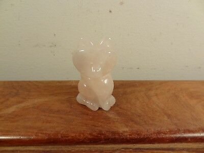 Natural Rose Quartz Carving Fox