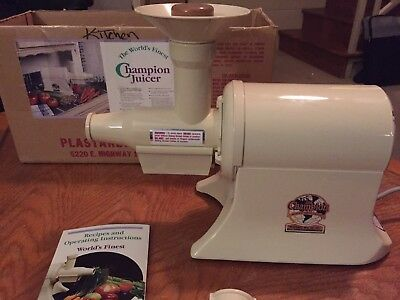 The Champion Juicer, Complete With Instructions And Box