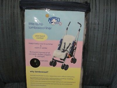 Lambswool Liner For Strollers, Car Seats-Warm in Winter, Cool in Summer