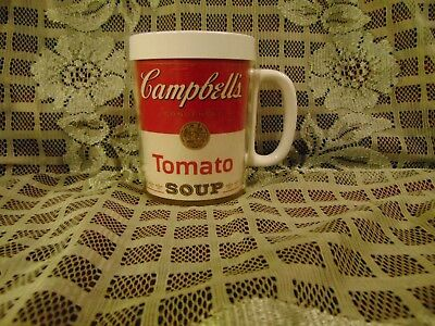 Vintage Campbell's Tomato Soup Insulated coffee Mug Cup Westbend Thermo-Serv