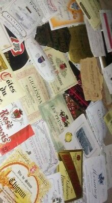 Mixed lot of 10 Vintage French Wine Labels 60's to 80's Colorful No duplicates