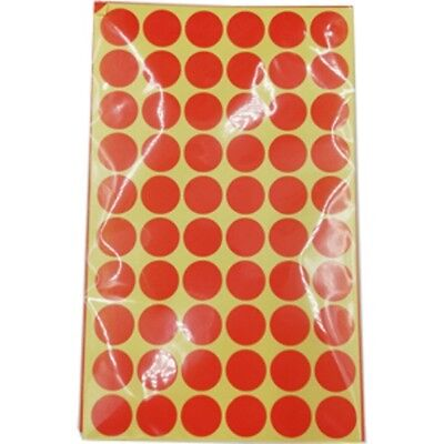 720 x 15mm Round Red Colour Dot Sticker Circle Sticky Self Adhesive Label