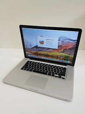 "APPLE MACBOOK PRO Mid-2010 15"" i5 2.4Ghz 8GB Ram 500GB HDD Charger High Sierra"