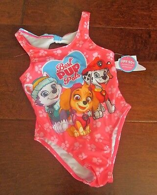NEW Boutique Paw Patrol Girls Sz 4T Pink 1 Pc., Swim Suit Lined Vacation Perfect