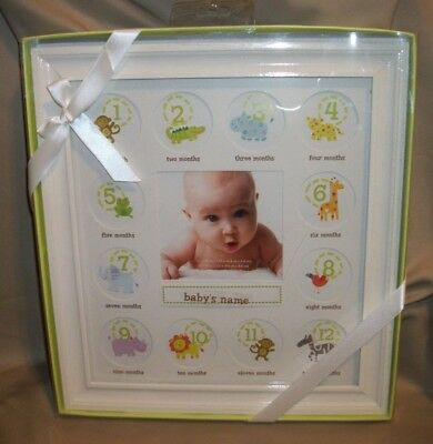 """NEW BABY'S FIRST YEAR MONTHLY """" 12"""" x 11""""  PHOTO FRAME"""