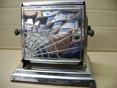 Antique General Electric GE Electric Toaster w/ Spider Web Design model 119T46