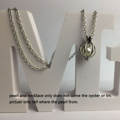 Love Wish Pearls Oyster Drop Chain Pendant Necklaces Women Fashion  Pendant