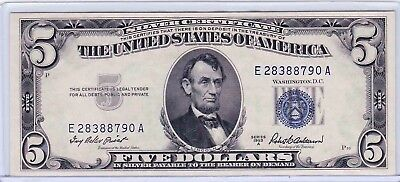 1953A $5.00 Fr 1656 Five Dollar Note Uncirculated Top loader