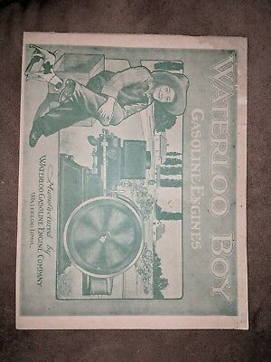 1911 Waterloo Boy  gasoline engines  Catalog Manual Book  35 Pages
