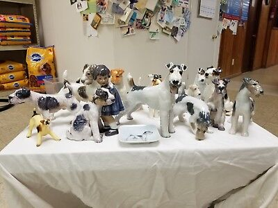 Wire Fox Terrier figurine collection - personal collection