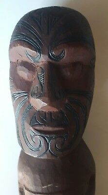 Early Important South Pacific New Zeland Maori Native Karetao Puppet Figure.