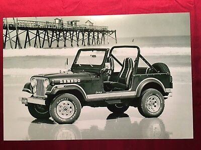1984 Jeep Laredo Advertising Press Release 4X4 All Chrome 12X18 In Photo Poster