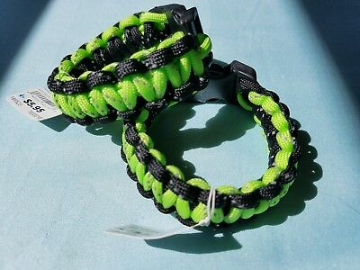 The Children's Place SET of 2 Paracord Braided Bracelets - Green & Black Cording