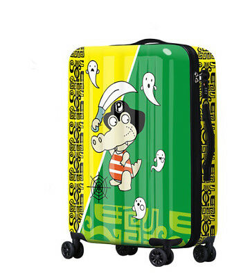 D614 Lock Universal Wheel Cartoon Crocodile Travel Suitcase Luggage 24 Inches W