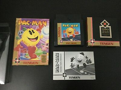 Pac-Man Tengen  Variant NES Nintendo Complete w/ Box & Manual CIB - Very Good