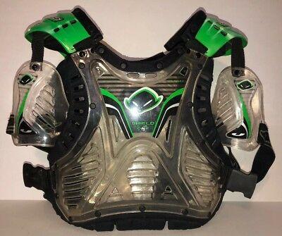 UFO Shield One Chest protector. Clear and green. Adult large-XL. Made in Italy.