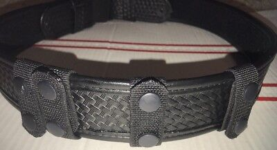 "BIANCHI Belt. Black ACCUMOLD ELITE Duty. Includes 4 belt supports. 48"" long."