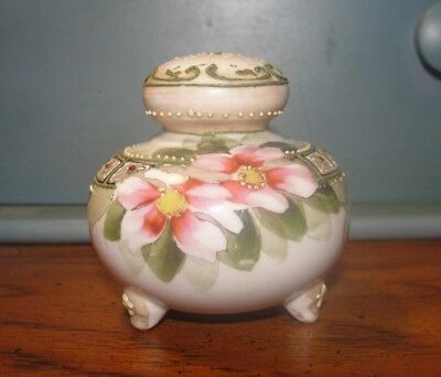 Antique Muffineer Powder Sugar Shaker footed Bavaria ? Germany ?