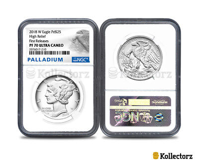 2018 W Palladium Eagle Pd$25 Ngc Pf70 Ultra Cameo First Releases