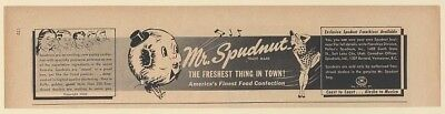 1950 Mr Spudnut Spudnuts Pastry Confection Franchise Offer Print Ad